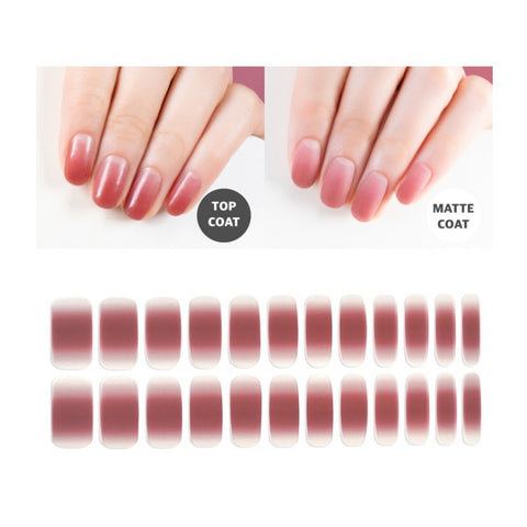 Premium Gel Nail Sticker - Gradation Line (5 Design)