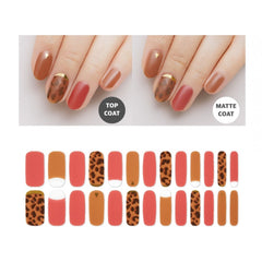 Premium Gel Nail Sticker - Leopard Line (6 Design)