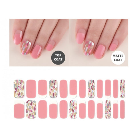 Premium Gel Nail Sticker - Pearl Line (7 Design)