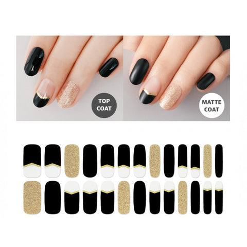 Premium Gel Nail Sticker - Real Gel Nail Strip (16 Design)