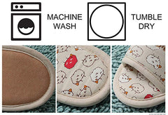Washable Cotton Slippers