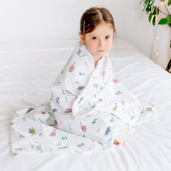 Double Blanket Alphabet Dino