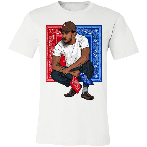 K Dot Bandana T Shirt - White - Hip Hop Spotlight Shop
