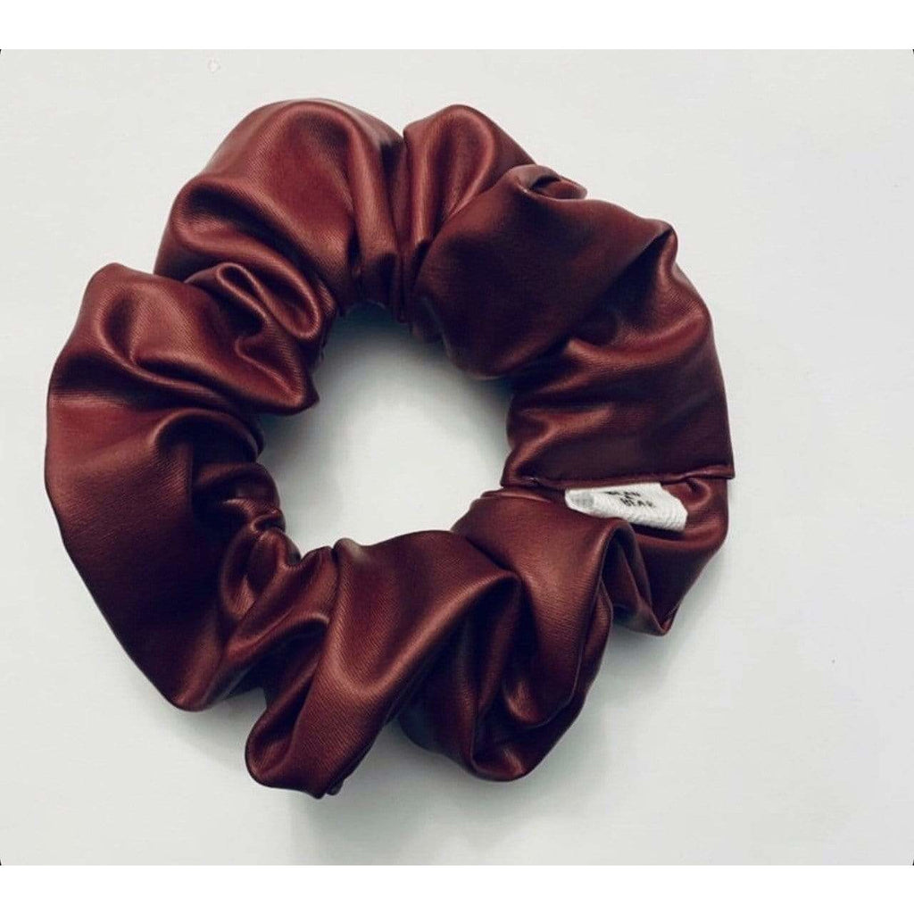 Bean & Bear RED / N/S Red Faux Leather Scrunchie