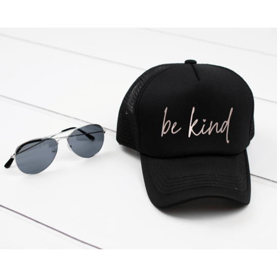 Blonde Ambiition BLACK / N/S Be Kind Script Cap
