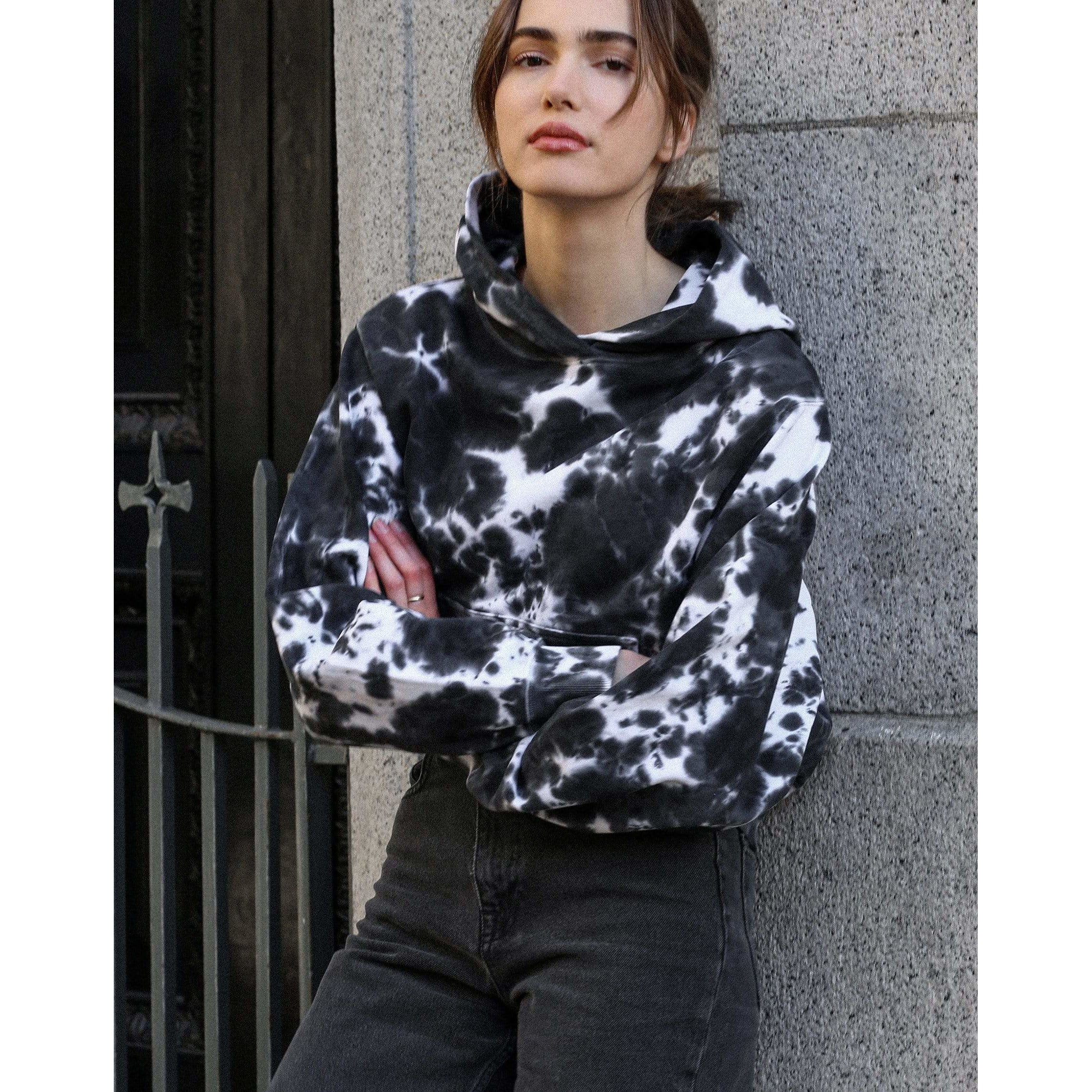 Brunette the Label Brunette the Label Best Friend Hoodie Black Marble