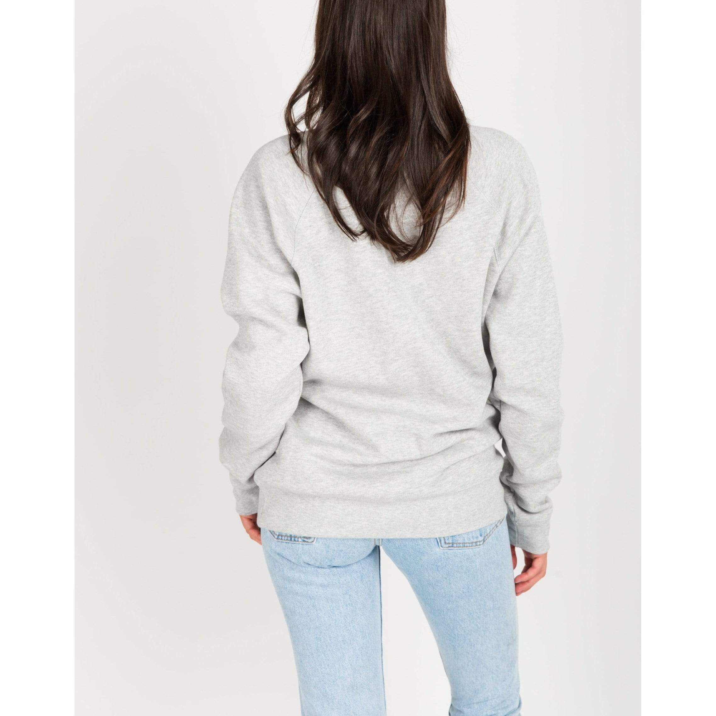 Brunette the Label GREY / L/XL Brunette the Label Blonde Crew Grey