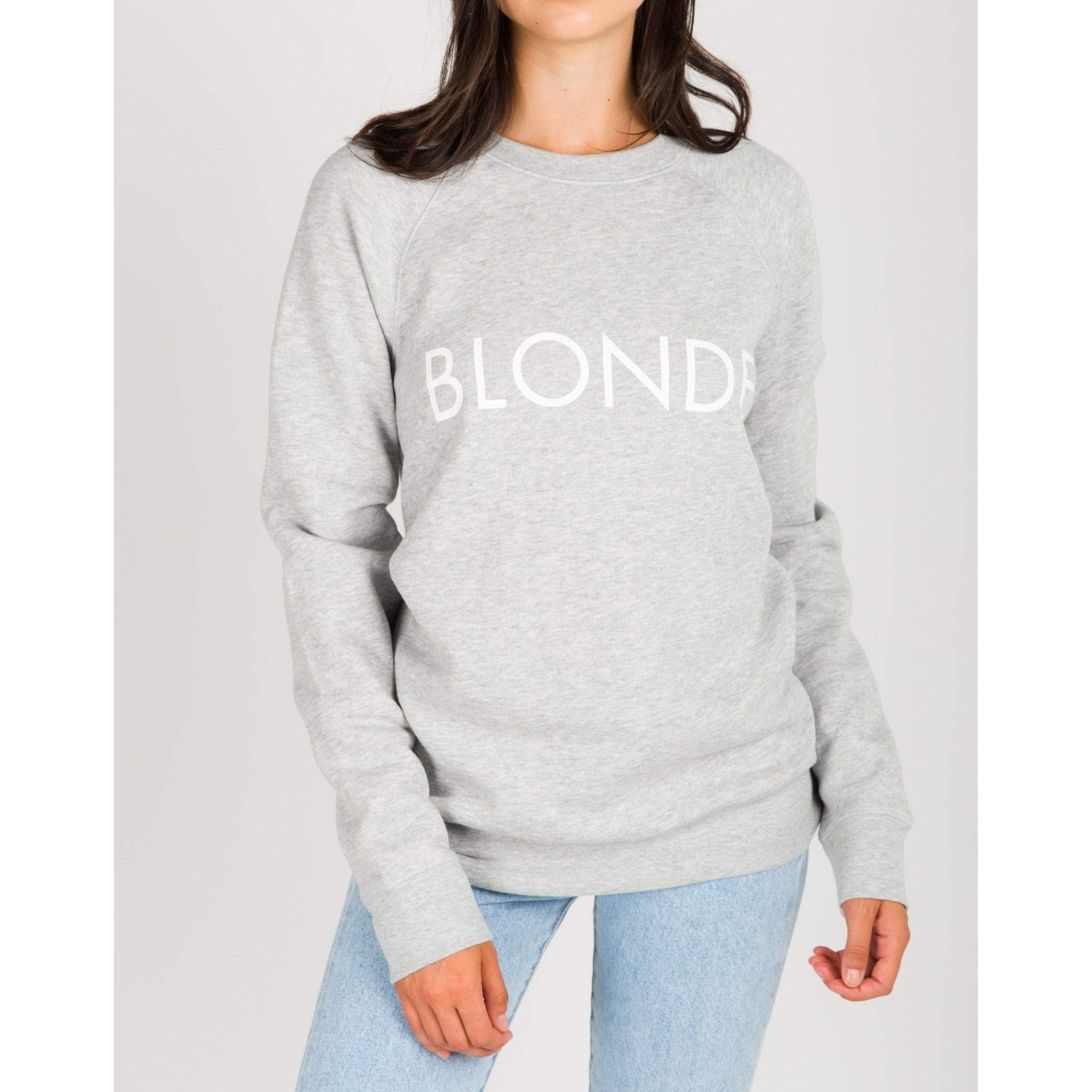 Brunette the Label GREY / S/M Brunette the Label Blonde Crew Grey