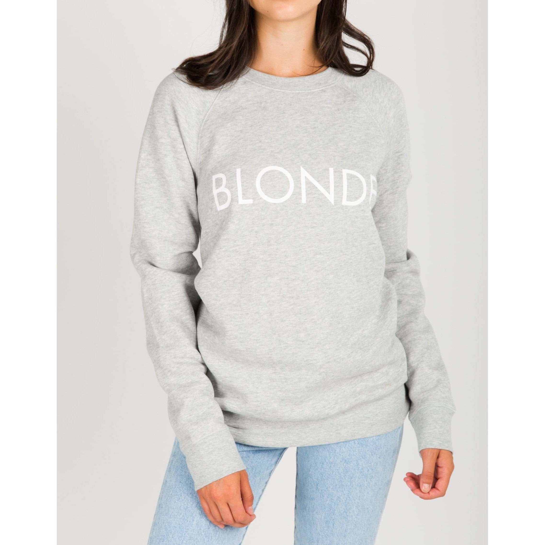 Brunette the Label GREY / XS/S Brunette the Label Blonde Crew Grey