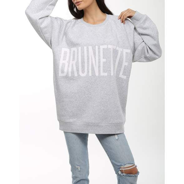 Brunette the Label Brunette the Label Brunette Big Sister Crew - Grey