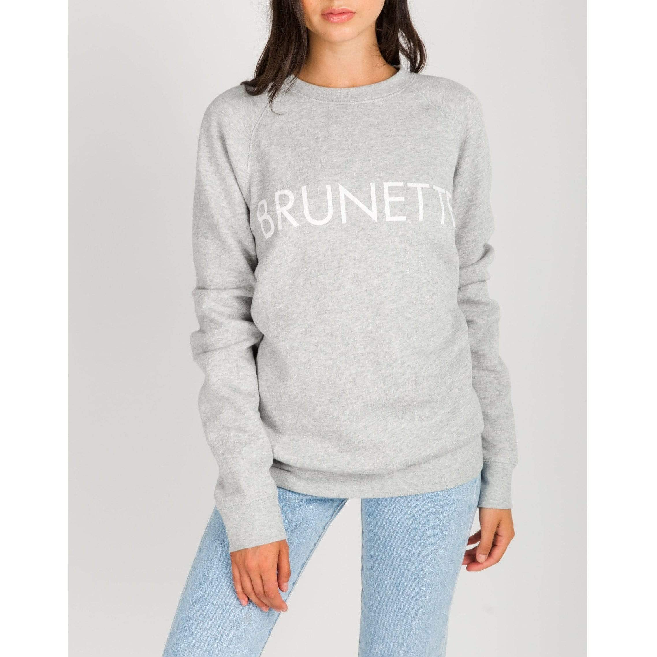 Brunette the Label GREY / XS/S Brunette the Label Brunette Crew Grey