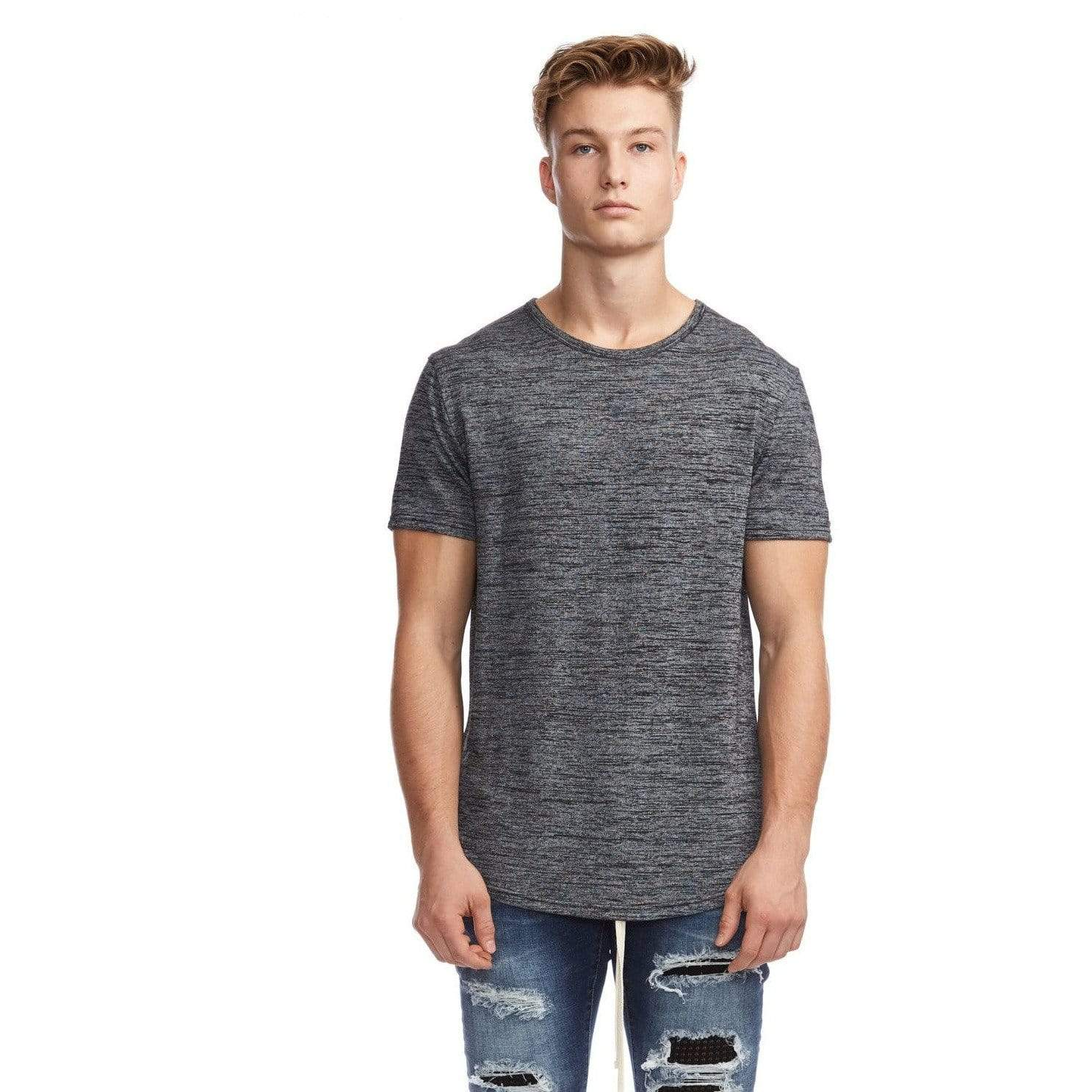 Kuwalla | Tee MIX BLACK / XL Kuwalla Tee Marled Hi-Lo Scoop