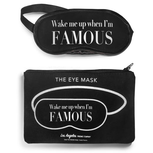 LA Trading BLACK / N/S LA Trading Co Wake Up Famous Eyemask