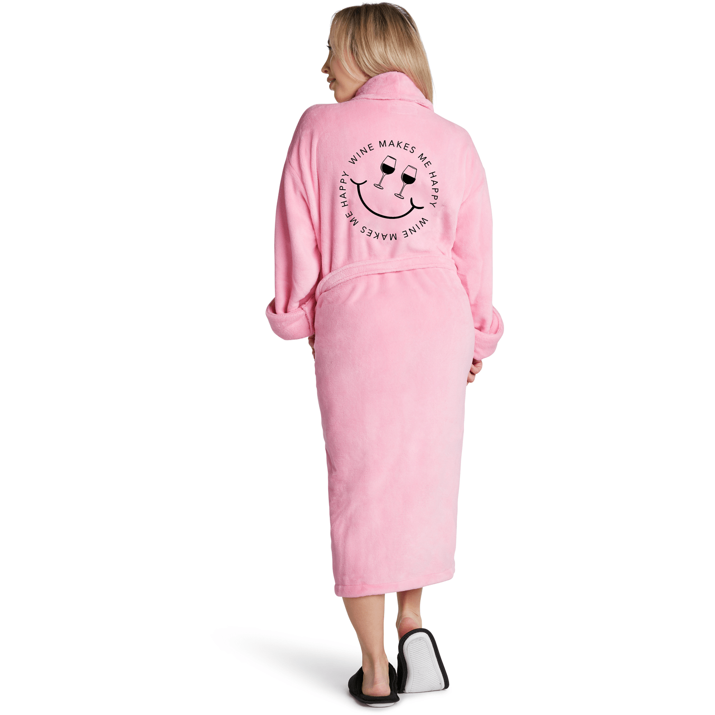LA Trading PINK / N/S LA Trading Co Wine Makes Me Happy Robe