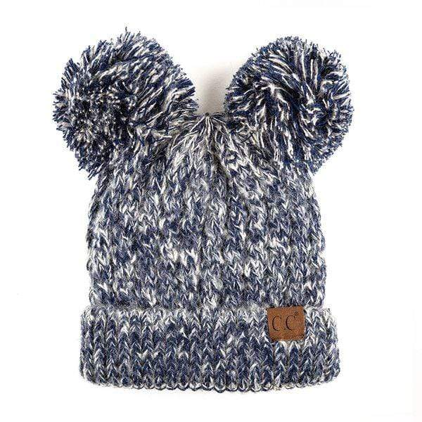 Modinno Enterprise NAVY / N/S CC Flecked Double Pom Beanie