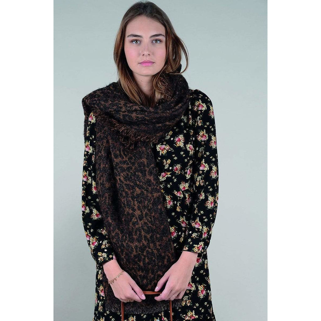 Molly Bracken BROWN / N/S Molly Bracken Oversize Leopard Scarf