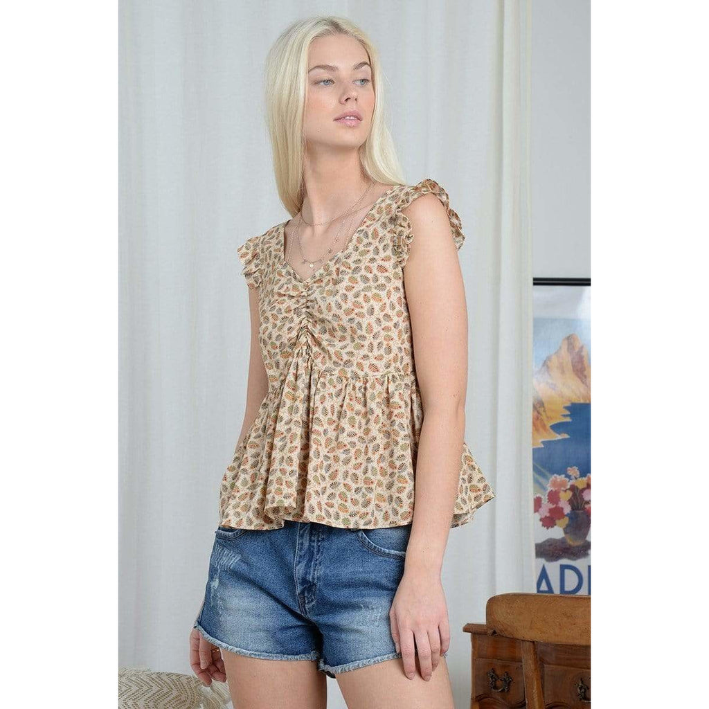 Molly Bracken Moly Bracken Bohemian Lace Back Top