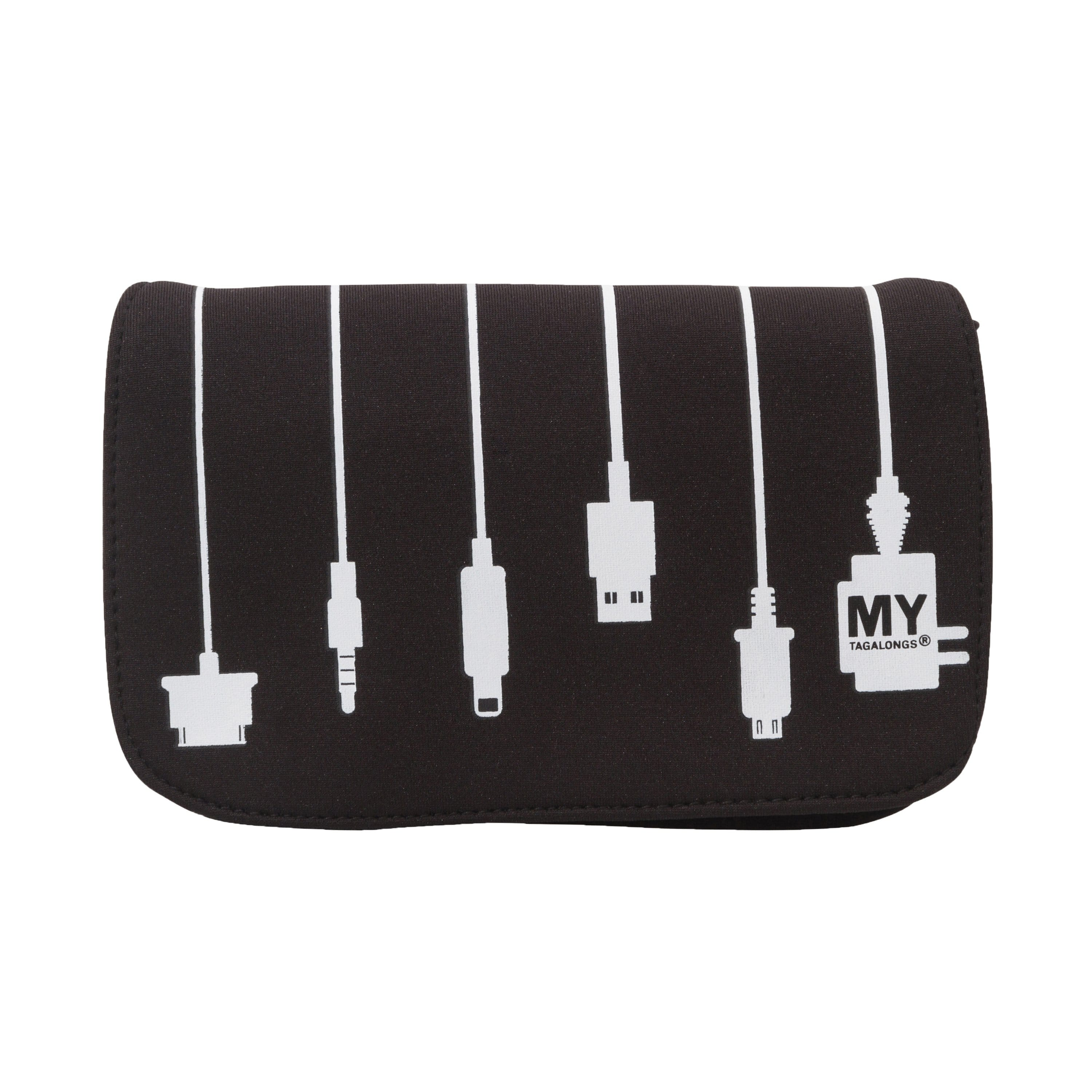 MyTagAlongs BLACK / N/S Mytagalongs Plug In Charger Case