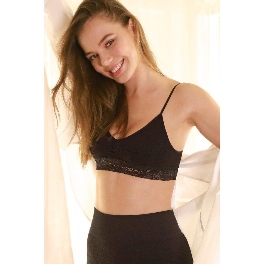 NikiBiki BLACK / N/S Laced Ruched Bralette + more colours