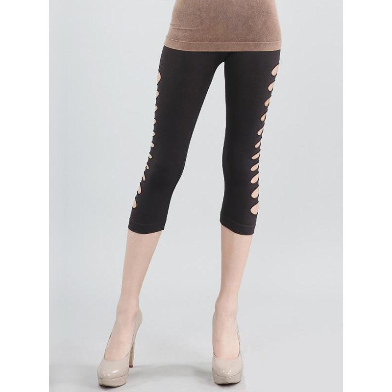 NikiBiki BLACK / N/S Side Cut Crop Leggings