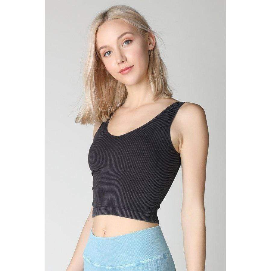 NikiBiki BLACK / N/S Vintage V-Neck Crop Top + more colours