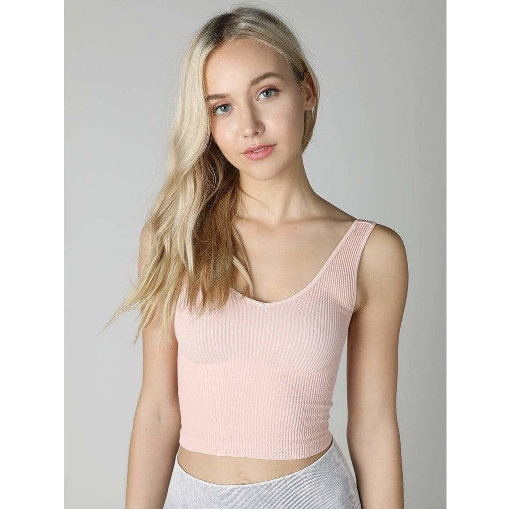 NikiBiki ROSE MILK / N/S Vintage V-Neck Crop Top + more colours