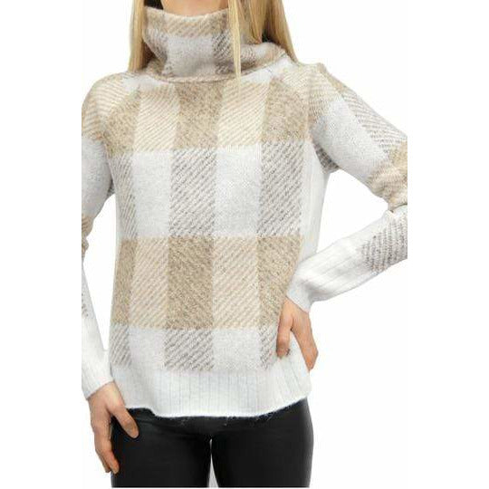 RD Plaid Cowl Sweater