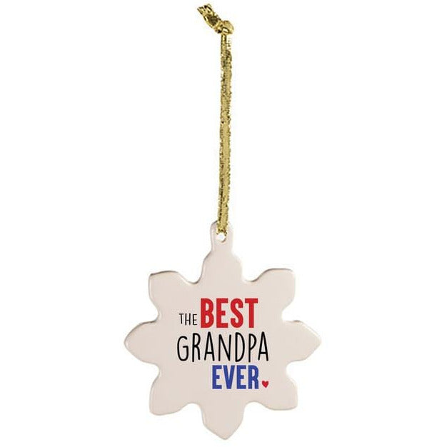 Sock Dirty To Me WHITE / N/S Best Grandpa Tree Ornament