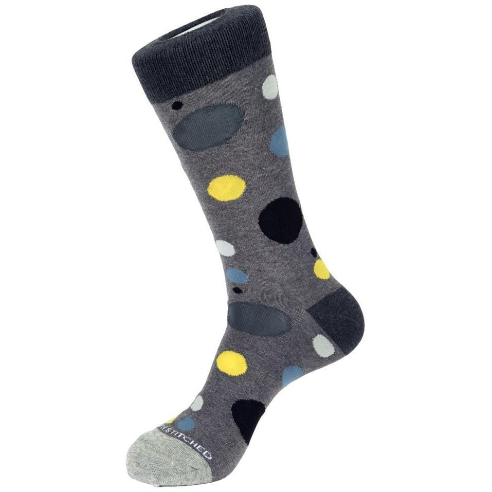 Unsimply Stitched HEATHER GREY / N/S Unsimply Stitched Scatter Dot Sock
