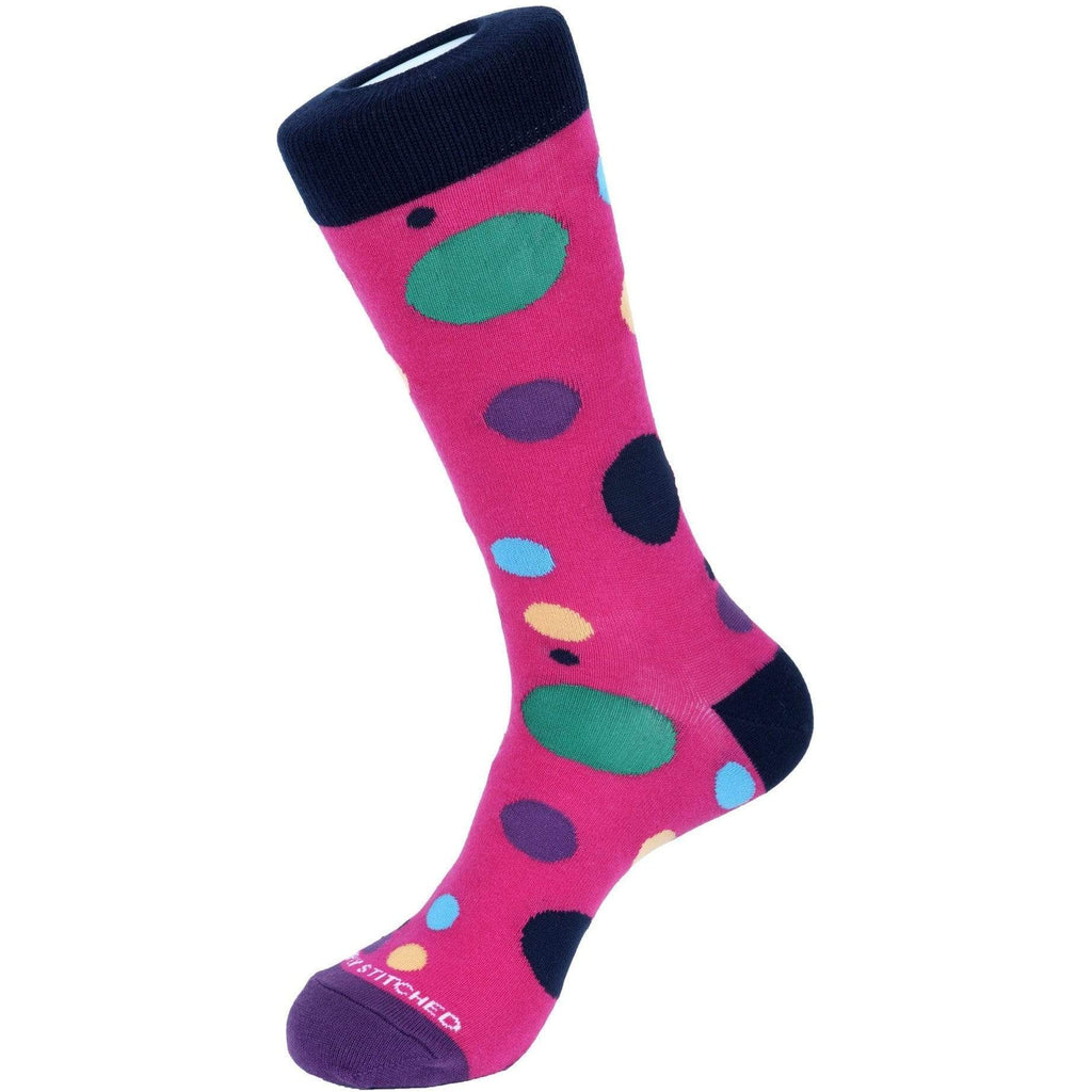 Unsimply Stitched PINK / N/S Unsimply Stitched Scatter Dot Sock