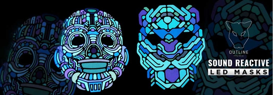 Outline Montreal's Sound Reactive LED Masks | What are they and how do they work?
