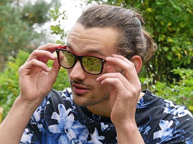 Mirror Lens Diffraction Glasses