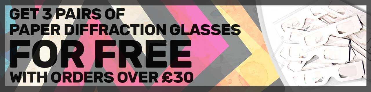free paper diffraction glasses