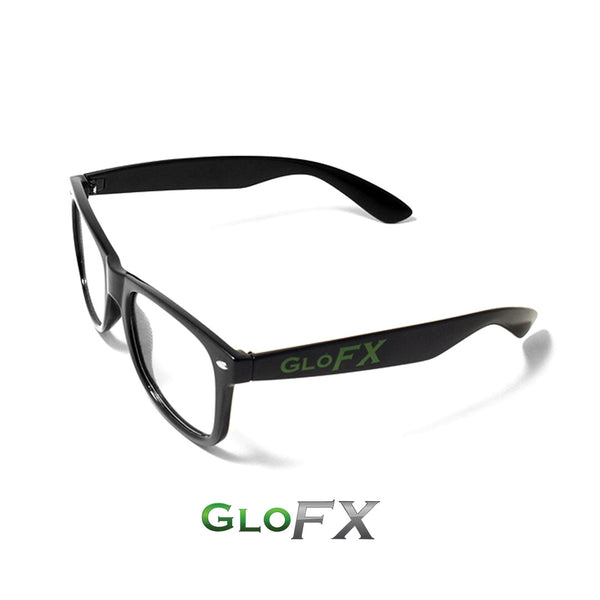 GloFX Heart Effect Diffraction Glasses – Black