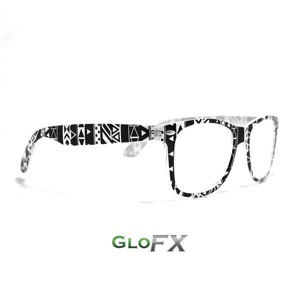 GloFX Noir Geometric Diffraction Glasses