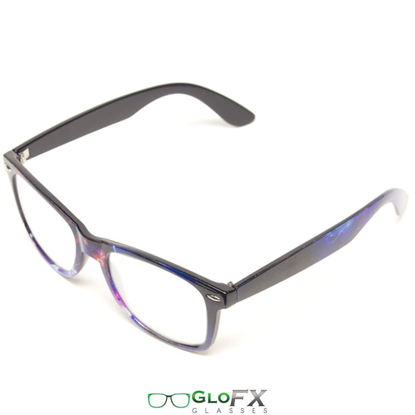 GloFX Galaxy Diffraction Glasses - Clear lens