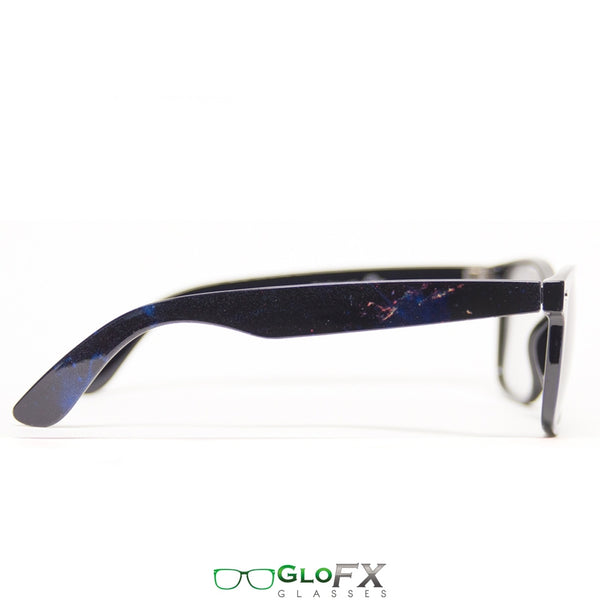 GloFX Galaxy Diffraction Glasses - Emerald tinted