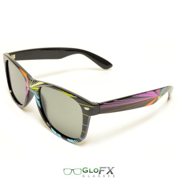 GloFX Starburst Diffraction Glasses - Emerald tinted