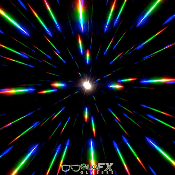 GloFX Starburst Diffraction Glasses - Amber tinted