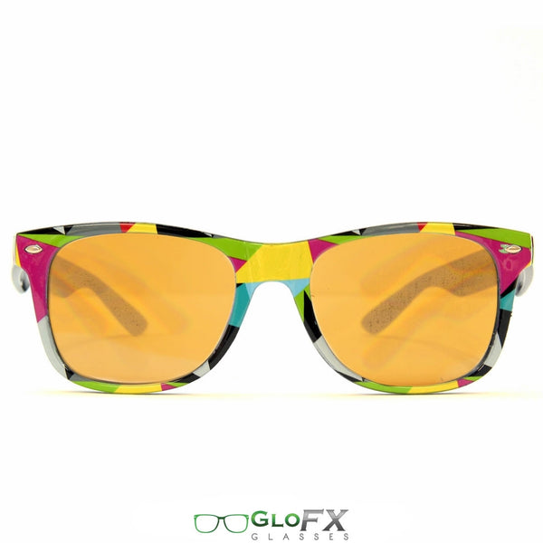 GloFX Geometric Diffraction Glasses - Amber tinted