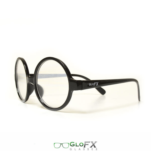 GloFX Round Retro Diffraction Glasses - Clear