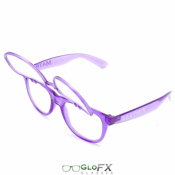 GloFX Matrix Diffraction Glasses - Transparent purple