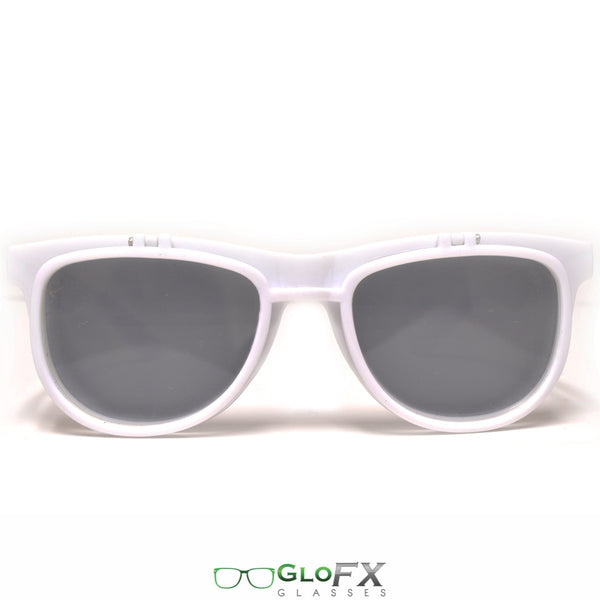 GloFX Diffraction Flip Sunglasses - White