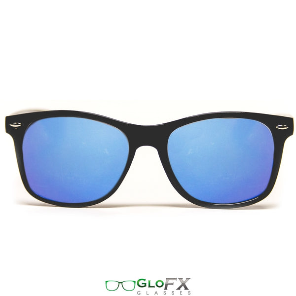 GloFX Diffraction Glasses – Black – Blue Mirror