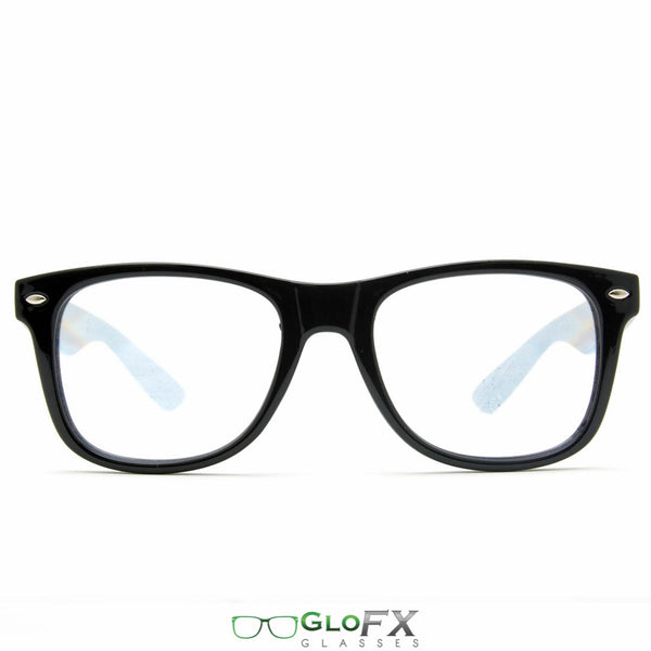 GloFX Ultimate Diffraction Glasses - Black - Clear