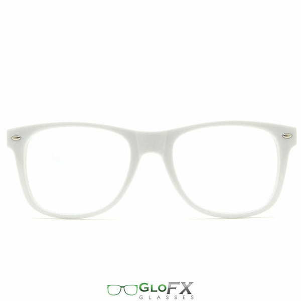 GloFX Ultimate Diffraction Glasses - White - Clear