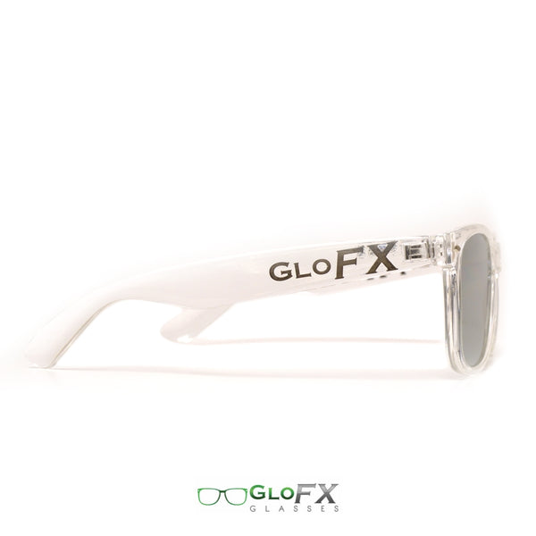 GloFX Ultimate Diffraction Glasses - Clear - Emerald Tinted