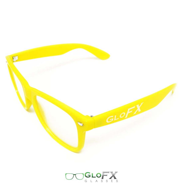 GloFX Ultimate Diffraction Glasses - Yellow - Clear