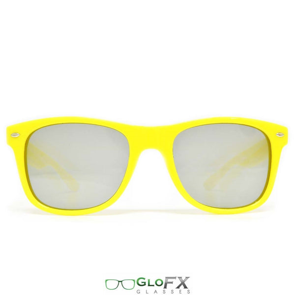GloFX Ultimate Diffraction Glasses - Yellow - Emerald Tinted