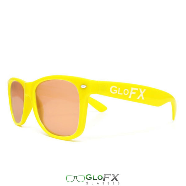 GloFX Ultimate Diffraction Glasses - Yellow - Amber Tinted